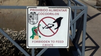 Do not feed the crocs!