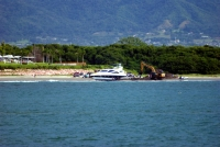 Beached boat at Nuevo Vallarta