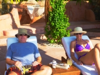 Tim and Cat at the Casa de Canta pool