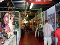 Zacatecoluca market 3 - note the hanging meat