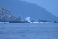 Surf breaking at Cabo Blanco