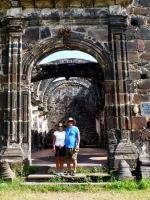 Lucky and Rose at San Blas church ruin